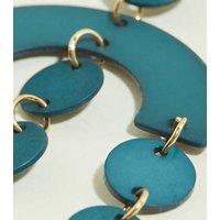WANTED Green Chandelier Resin Earrings New Look