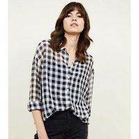 black-gingham-crepe-chiffon-shirt-new-look