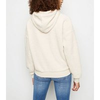 Cream London Slogan Borg Hoodie New Look