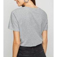 Grey One Hundred Percent Slogan T-Shirt New Look