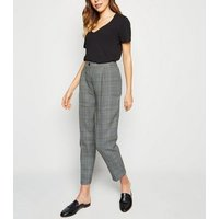 Brown Check Tapered Trousers New Look