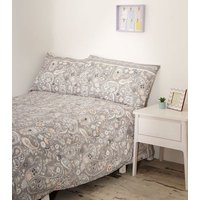 Light Purple Paisley Cotton Single Duvet Set New Look