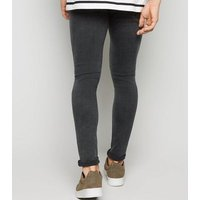 Black Washed Super Skinny Jeans New Look