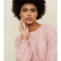 pale-pink-balloon-sleeve-oversized-sweatshirt-new-look