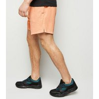 Coral Drawstring Shorts New Look