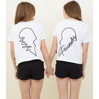 Girls White Best Matching Pyjama Set New Look