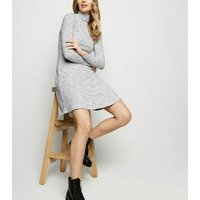 Cream Space Dye Ribbed Dress New Look