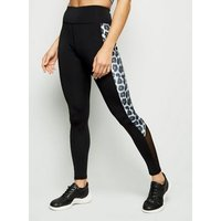 Light Grey Leopard Print Panel Sports Leggings New Look