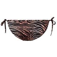 Rust Tiger Print Tie Side Bikini Bottoms New Look