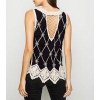 black-lattice-back-crochet-top-new-look