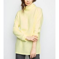 Yellow Roll Neck Oversized Jumper New Look