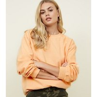 Coral Oversized Sweatshirt New Look