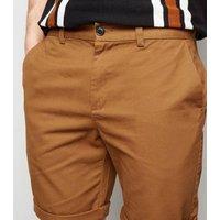 Rust Chino Shorts New Look