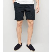 Navy Chino Shorts New Look