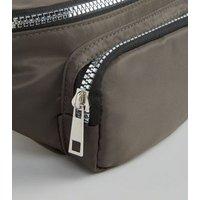 Khaki High Shine Utility Bum Bag New Look Vegan