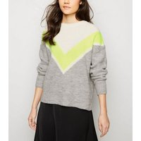 grey-neon-chevron-colour-block-jumper-new-look