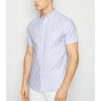 Lilac Short Sleeve Cotton Oxford Shirt New Look