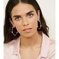 Gold Diamante Star Hoop Earrings New Look