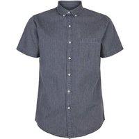 Grey Denim Short Sleeve Shirt New Look