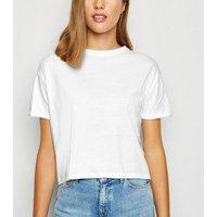 White-Organic-Cotton-Boxy-TShirt-New-Look