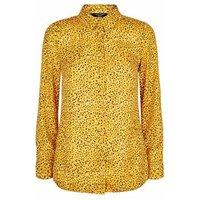 Petite Yellow Abstract Spot Print Shirt New Look