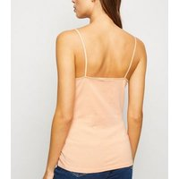 Coral Organic Cotton Blend Cami New Look