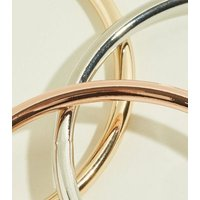 RE:BORN 2 Pack Gold Clip Top Ear Cuffs New Look