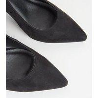 Black Suedette Slingback Block Heels New Look