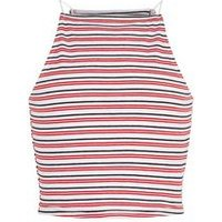 Girls Red Stripe Square Neck Cami New Look