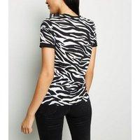 Tall Purple Zebra Print T-Shirt New Look