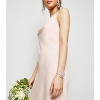Pale Pink Cowl Neck Maxi Dress New Look