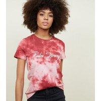 Mid Pink Palm Springs Tie Dye T-Shirt New Look