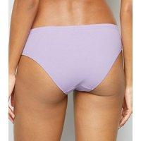 Lilac Cutie Pie Slogan Bikini Briefs New Look
