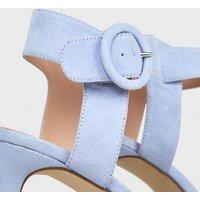 Lilac Suedette Platform Stiletto Sandals New Look