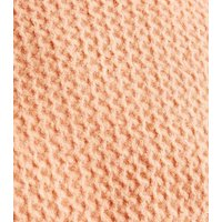 Coral Waffle Knit Funnel Neck Jumper New Look