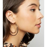 Gold Triple Hoop Earrings New Look