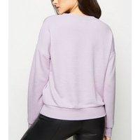 Lilac Living My Best Life Slogan Sweatshirt New Look