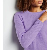 Lilac Knitted Jumper New Look