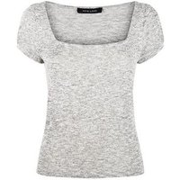 pale-grey-square-neck-puff-sleeve-top-new-look