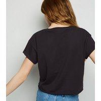 Girls Black Short Sleeve Cotton T-Shirt New Look