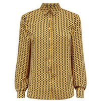 Cameo Rose Mustard Geometric Print Shirt New Look