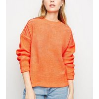 Petite Bright Orange Slouchy Jumper New Look