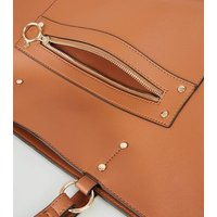 Tan Leather-Look Tote Bag New Look Vegan