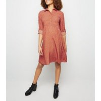 Maternity Red Ditsy Floral Smock Dress New Look