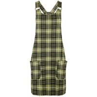 Tall Yellow Check Pinafore Dress New Look