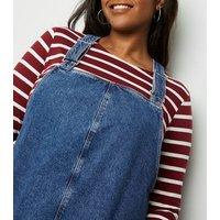 Curves-Blue-Buckle-Denim-Pinafore-Dress-New-Look
