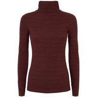 Red Ribbed Roll Neck Jumper New Look