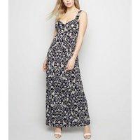 Mela Blue Floral Maxi Dress New Look