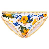 Yellow Tropical Floral Hipster Bikini Bottoms New Look