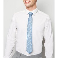 Blue Camo Print Recycled Skinny Tie New Look